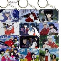Inuyasha Sesshoumaru Kagome Anime Figure Rubber Strap Charm Keychain Key Ring