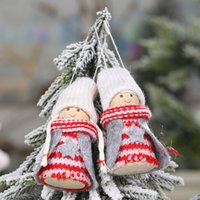 Wholesale candle beads for sale - Group buy New Christmas decorations wooden beads foot puppet pendant mini doll hanging creative old hanging