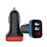 Wholesale fast cellphone charger for sale – best Car Charger Dual USB Ports LED Quick Charge Super Fast Car Charger For iPhone Cellphone Samsung Galaxy Note
