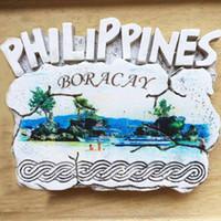 ingrosso resina cammello-Lychee Filippine Magneti per il frigorifero Boracay Scenico frigorifero Adesivo magnetico Decorazione della casa Souvenir di viaggio