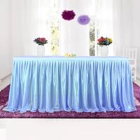 tüll tisch rock für großhandel-Tüll Tutu Tisch Rock Geschirr Tuch Für Party Hochzeit Bankett Dekoration Hochzeit Tisch Sockel 4 Farben