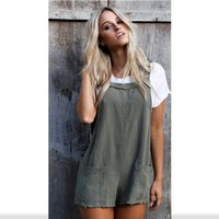 c24afabd9621 Fashion Women Ladies Loose Overalls Pockets Jumpsuit Sleeveless Strap  Rompers Dungaree Oversize Playsuit Causal Trousers Rompers