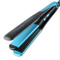varinha reta venda por atacado-2 em 1 alisador de cabelo liso elétrica 2-em 1 alisador de cabelo liso cerâmico Styler Grampo de milho Curler Salon Hairstyling Curling Styler