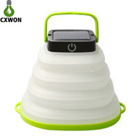 mini linterna solar luces al por mayor-Iluminación de camping solar portátil plegable ABS 500mAh USB recargable Linterna LED Mini emergencia LED linterna Luz para escalada al aire libre