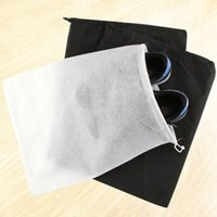 Wholesale drawstring shoe storage bags resale online - Promotion Non woven Drawstring Dust proof Storage Shoe Bag Outdoor Portable Lightweight Travel Dust proof Shoes Tote Bag DH0397 T03