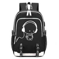 sırt çantalı soğutucu poşetleri toptan satış-DIOMO USB Sırt Çantası ile Serin Sırt Çantası Schoolbag ve Kulaklık Jack Genç Kızlar ve Erkekler için Loptop Okul Çantaları