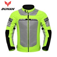 Wholesale motorcycle mesh jacket for sale - Group buy DUHAN Motorcycle Jacket Men Motorbike Reflective Racing Jackets Summer Mesh Breathable Moto Jacket Black And Fluorescent Green