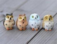 ingrosso civetta decorativa del giardino-New Patio Landscape Owl Doll Resina Fairy Home Garden Decorazione fai da te Micro ornamenti Decorazione