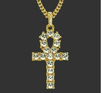 Wholesale key necklace singapore for sale - Group buy European and American pop fashion hip hop men personality boutique Pendant Necklace superstar Iverson Egyptian Anch key jewelry