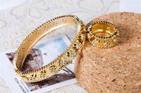 kızlar için kaliteli yüzükler toptan satış-Kadın Moda Çiçekler Bilezikler Yüzükler Altın Gümüş Takı Tasarımcısı Lüks Yüzük Bilezik Setleri En Kaliteli Kızlar Düğün Takı Lover Hediye