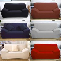 Wholesale pillowcase pets resale online - 2019 new solid color three seat sofa cover chair cover pillowcase sofa pet dog protective thick elastic soft