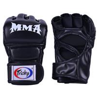 guantes deportivos de pelea al por mayor-Kick Boxing Gloves Fighting MMA Sports PU Leather Guantes Muay Thai box box mma guantes boxeo sanda pads de boxeo mma