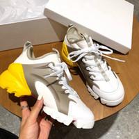 nakliye bağlamak toptan satış-Yeni Tasarımcı Kadın Sneakers Moda Karışık Renkler B21 D CONNECT Sarı Mavi Sneakers Takozlar Platformu Marka Ayakkabı Damla Nakliye Boyutu 35-40