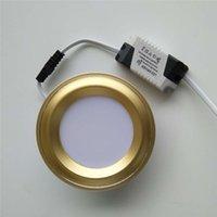 ingrosso oro 7w-Faretto da incasso LED oro bianco dimmerabile due colori bianco caldo bianco 5w 7w 3W 110V 220V Faretto a soffitto da incasso a LED