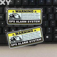 Wholesale plastic car tracks for sale - Group buy 2PCS Warning GPS ALARM SYSTEM Tracking Anti Theft Decals Reflective Type Car Stickers for Motorcylcle Automobile Drop Shipping