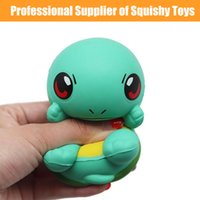 Wholesale big eye soft toys resale online - Squishy Squirtle Toys Cute Big Eyes Cartoon Tortoise Squishy Kids Toy Super Soft Squirtle Squeeze Scented Slow Rising Stress Reliever Toy