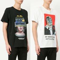 uc mini toptan satış-Gizli T-Shirt Yeni Tasarım Yüz Baskılı Kısa Kollu Beyaz Siyah Tees UC Biz Değil Gürültü Değil Giysi Hip Hop Üst T-Shirt CLI0413