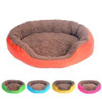 großes weiches hundehaus großhandel-4 Farben-Hundebett-Winter-warmes Hundehaus für kleines großes Hunde weichen Haustier-Nest Kennel Katze Sofa Mat Tiere Pad Pet Supplies S / M / L