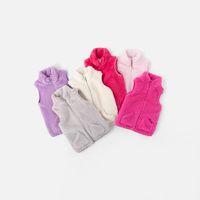 Wholesale baby girl coats for winter resale online - Children s warm vests kid wear clothes Coats baby plush vest Outerwear Plush Waistcoat Winter warm for Kids Vest Jacket LJJK1807