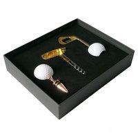 вина оптовых-Новизна Golf Ball Вино Пиво открывалка Golf Пиво открывалка Пробка Sealer штепсельной вилки Штопор Cap Съемник с футляре., Бутылка Стопор Golf