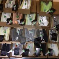 Wholesale men mesh hiking sneaker resale online - 2019 V2 Kanye West True Form Clay Static Green Tint Beluga Zebra Cream Running Shoes Men Women Designer Sneakers