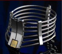 Wholesale neck collar metal lock resale online - Stainless Steel Metal Wire Cord Slave Collar Neck Ring for Men and Women Alternative Sex Toys SM Bondage Flirting with Locks