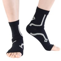 Wholesale socks for foot pain resale online - 1pair Ankle Brace Compression Support Sleeve Elastic Breathable For Recovery Joint Pain Women Men Foot Sports Socks P