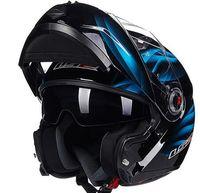 ls2 kask lens toptan satış-Erkekler flip up ile motosiklet kask çift kalkan iç güneşli lens modüler ls2 kask capacete kasko moto