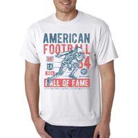 orange american football shirts großhandel-Amerikanischer Football Hall of Fame T-Shirt / Linebacker Quarterback Receiver Verteidigung Größe Discout Heiße neue Tshirt Marke Shirts Jeans Print