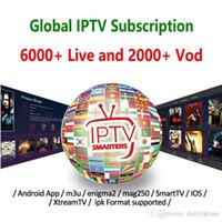android tv ios großhandel-1/3/6/12 Monate Unterstützung für globales Iptv-Abonnement Smart TV M3U Android-TV-Box Mag-Box IOS Frankreich Großbritannien Italien USA Kanada Abonnement Iptv