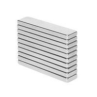блокирующие магниты n52 оптовых-10 ШТ. 40x10x3 мм N52 Супер Сильный Блок Кубовидные Неодимовые Магниты 40 * 10 * 3 мм Редкоземельные Мощный Магнит