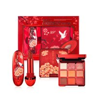 Wholesale makeup kit lipstick shadow for sale - Group buy makeup kit Chinese Traditional Chic Dynasty Red Lipstick Eyeshadow Palette Makeup Gift Set for Wowen Shimmer Eye Shadow set new