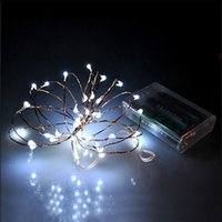 Wholesale flasher for string lights resale online - 2 M LED XAA battery LED string lights for garland party wedding decoration Christmas flasher fairy lights