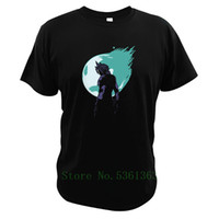 Wholesale fashion fantasy game for sale - Group buy Final Fantasy VII Game T shirts Cloud Strife T shirts Cotton Streetwear short sleeve Summer Clothes