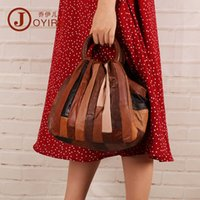 Wholesale first cell phones for sale - Group buy 2019 new leather handbag retro fashion handbags messenger bag first layer of sheepskin stitching Ms bag