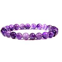 Wholesale dream stone resale online - Natural Dream Purple Amethysts Beads Bracelet Natural Stone Bracelets Round Beaded Stretch Bracelet Energy Gift Jewelry Quartzs