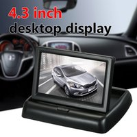 Wholesale foldable tft lcd monitor resale online - 5 Styles Optional Inch TFT Color Display Foldable Car LCD Monitor Dashboard Screen Parking Monitor Display