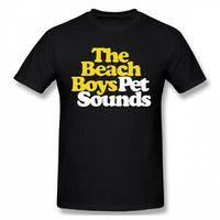 erkek sesleri toptan satış-Erkekler Plaj Erkek Pet Sesler Logo% 100% Pamuklu T Gömlek Tee