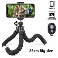 benro kamera toptan satış-Bluetooth Uzaktan Shutter telefon klibi Taşınabilir Ahtapot Esnek Telefon tripod Tutucu Mini iPhone Samsung Kamera GoPro için Tripod Standı