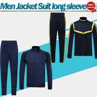 tiefblaue hosen männer großhandel-Gunner Jacket Suit 2020 dunkelblau Soccer Kit 19/20 Langarm-Trainingsanzug Herren Fußball-Trainingsanzüge gunner Jacket + Pants