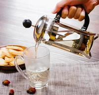 französische töpfe großhandel-350 ml glas französisch presse kaffeekanne edelstahl kaffeekolben kaffeekanne isoliert kaffeekanne geben filter teekanne gga2631