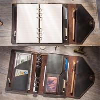 a6 merkzettel großhandel-Traveler Notebooks und Tagebücher Tagebuch handgemachte Veranstalter A5 A6 Notizblöcke Boulet Planer kreative Bullet Journal Planer Print T8190615