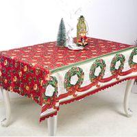 bez torbalar toptan satış-Yeni yıl Noel masa örtüsü 150 * 180 cm santa çuval masa örtüsü noel süslemeleri ev yemekhane masa masa örtüleri