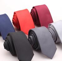 ingrosso cravatte coreane-Cravatta tinta unita maschile versione coreana 6cm Piccola versione stretta delle cravatte da cerimonia nuziale formale aziendale
