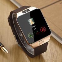 телефоны часы китайские оптовых-Bluetooth DZ09 Smart Watch Relogio Android Smartwatch Телефонный звонок SIM TF камера для IOS iPhone Samsung Samsung HUAWEI VS Y1 Q18
