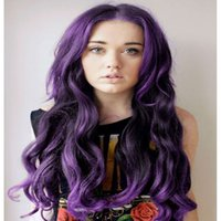 Wholesale mongolian closure inches for sale - Group buy Purple Body Wave Hair Brazilian Virgin Hair Bundles with Closures Free Part Peruvian Colorful Human Hair Weave Color B Purple inch