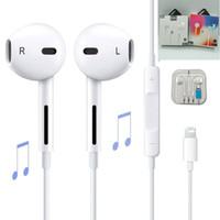 ingrosso bluetooth earphones iphone plus-Cuffie auricolari con cavo Bluetooth auricolare per Apple IPhone X XR XS Max 8 7 6 6S Plus 6 5 5S Auricolari con microfono Ear Phone