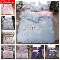 Wholesale purple flower bedding sets resale online - Flower Pattern AB Double Side Duvet Cover Bedding Set Adult Kids Girl Single Twin Full Queen King Size Sweet Bedspreads x200
