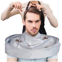 ropa de barbero al por mayor-Delantal creativo DIY Capa de corte de pelo Paraguas Cape Salon Barber Salon y Home Stylists Usando capas de corte de cabello Ropa