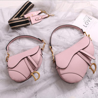 Wholesale new designer skull handbags for sale - Group buy famous designer womens handbag new letter shoulder bag high quality genuine leather Messenger bag luxury saddle bag